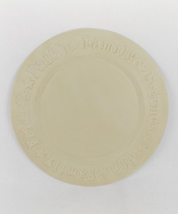 Off-White 'Faith, Family, Friend' Plate