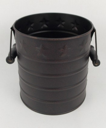 Black Tin Pail