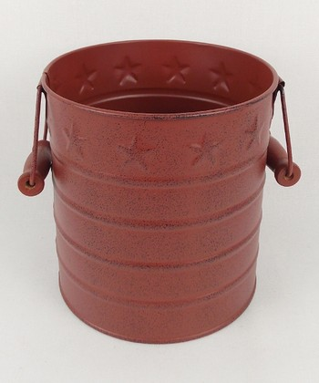 Barn Red Tin Pail