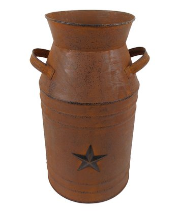 Rustic Star 11'' Milk Can