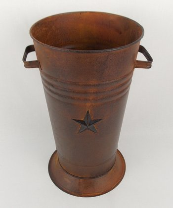 Large Rustic Star Flower Pot