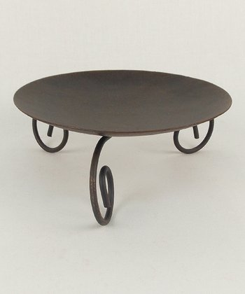 Black Pillar Candle Stand