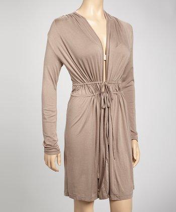 Samantha Chang Lingerie Sable Drape Robe