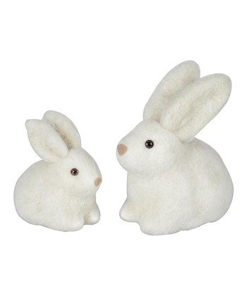 Wool Rabbit Figurine Set