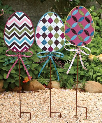 Easter Egg Garden Stake Set