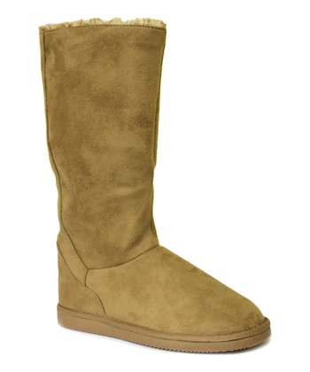 Chestnut Suede Fleece Boot
