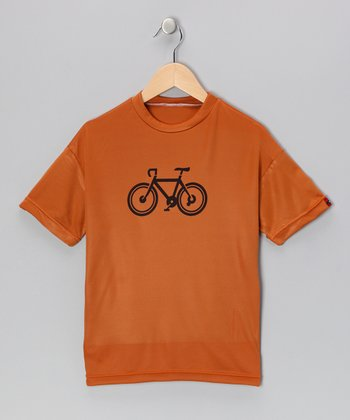 Burnt Orange Bicycle Tee - Boys