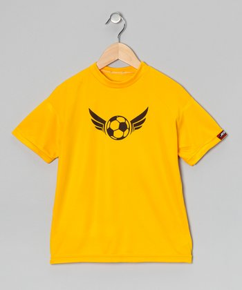 Yellow Gold Soccer Tee - Boys