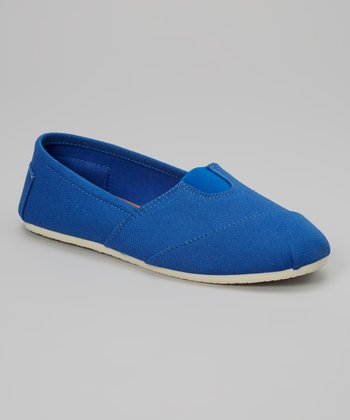 Royal Blue Canvas Slip-On Shoe