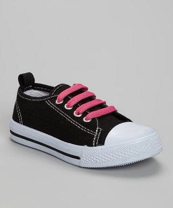 LILLY of NEW YORK Black & Pink Sneaker