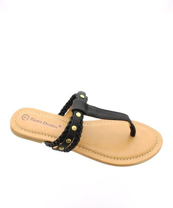 Black Braid Sandal