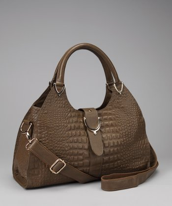 Taupe Textured Satchel