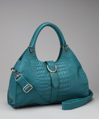 Teal Textured Satchel