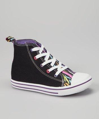 Chatties Black Hi-Top Sneaker