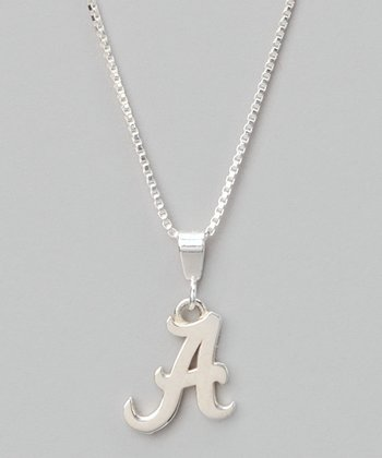 Silver Alabama Charm Necklace