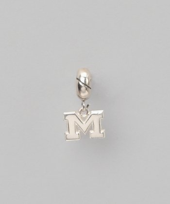 Michigan Wolverines Sterling Silver Charm Bead
