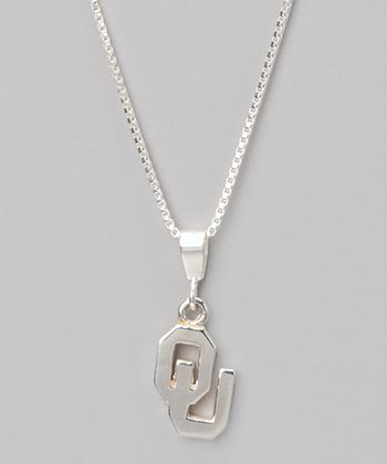 Silver Oklahoma Charm Necklace