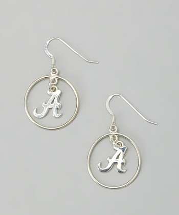 Sterling Silver Alabama Open Drop Earrings