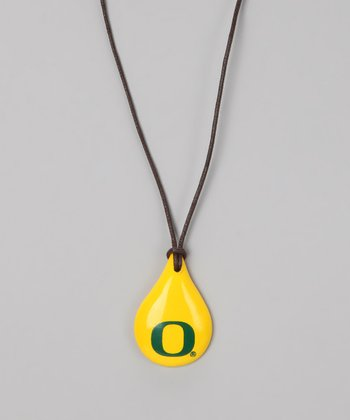 Yellow & Green Oregon Teardrop Pendant Necklace