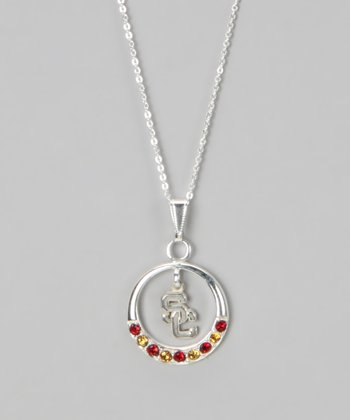 South Carolina Rhinestone Open Pendant Necklace - Women