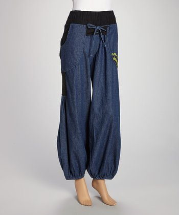 Denim Patchwork Pants
