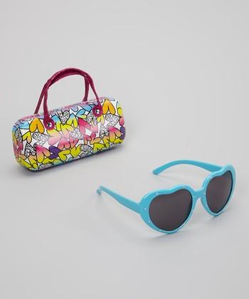Accessories 22 Blue Heart Sunglasses & Heart Case