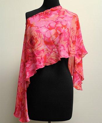 Reno Rose Pink Floral Pirose Aki Nursing Cover