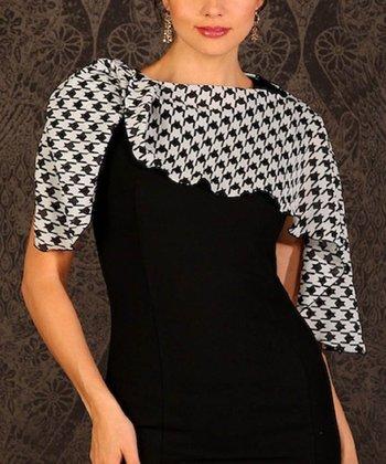 Reno Rose Black & White Houndstooth Pirose Harumi Nursing Cover