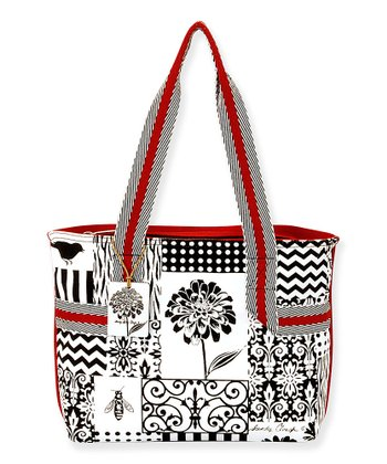 Black & White Patchwork 14'' Tote