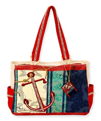 Blue & Red Deep Sea Tote
