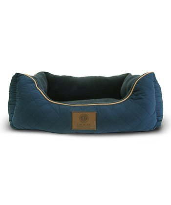 Blue Orthopedic Box Dog Bed