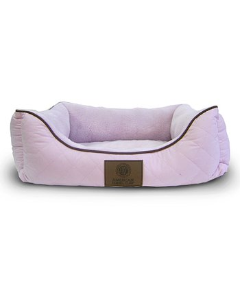 Pink Orthopedic Box Dog Bed