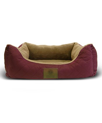 Red Orthopedic Box Dog Bed