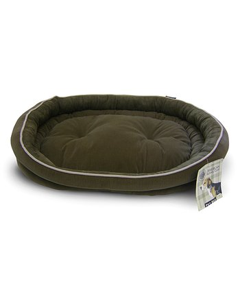 Green Reversible Double Bolster Dog Bed