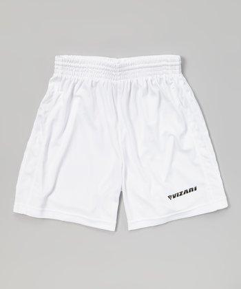 Vizari White Campo Soccer Shorts - Kids & Adult