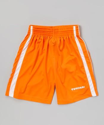 Vizari Orange Campo Soccer Shorts - Kids & Adult