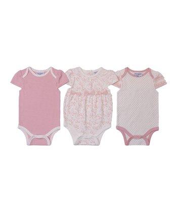 Kyle & Deena Pink Bow Bodysuit Set
