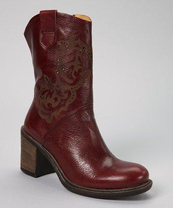 Brako Bordo Leather Cowboy Boot