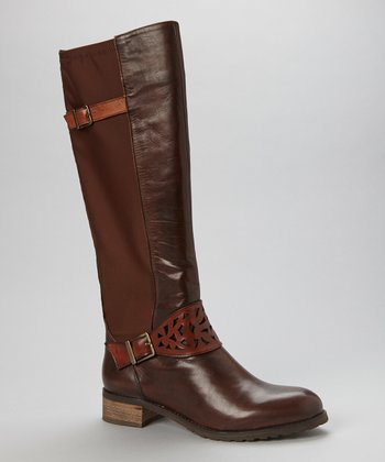 Dark Brown & Tobacco Birgo Leather Boot