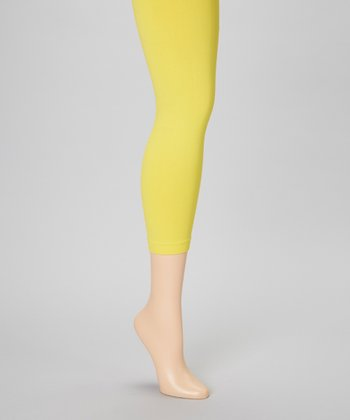 Yellow Footless Tights Set - Women