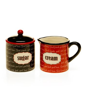 Eat at Mom's Sugar Bowl & Creamer