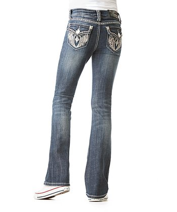 Medium Wash Wing Bootcut Jeans