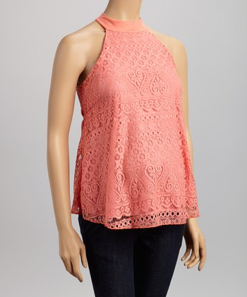 Coral Lace Maternity Swing Top - Women