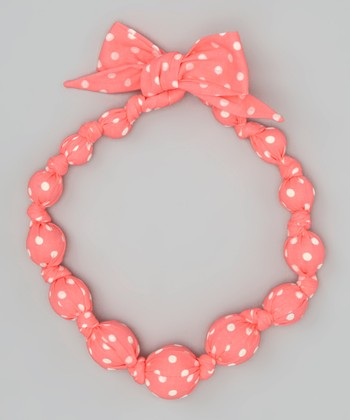 Neon Pink Beaded Necklace