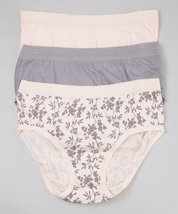 Pink & Moonstone Briefs Set