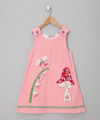 Pink Fairy Garden Corduroy Jumper - Infant, Toddler & Girls