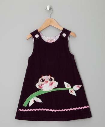 Purple Owl Corduroy Jumper - Infant, Toddler & Girls