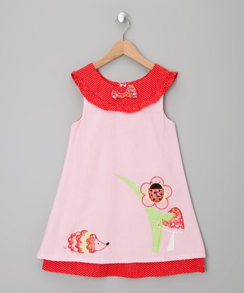 Pink Enchanted Forest Corduroy Dress - Infant, Toddler & Girls