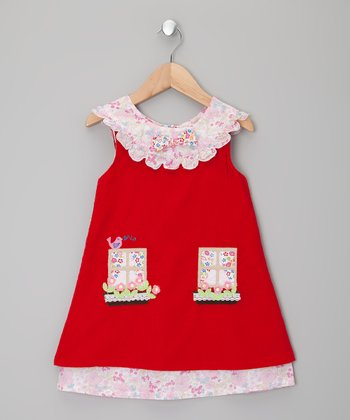 Red Cottage Corduroy Dress - Infant, Toddler & Girls