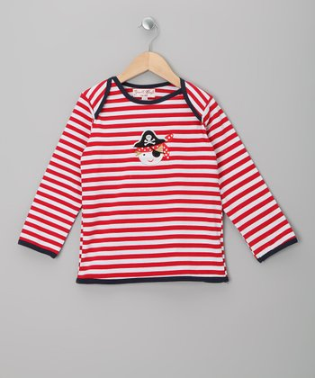 Red Stripe Pirate Lapneck Tee - Infant, Toddler & Kids